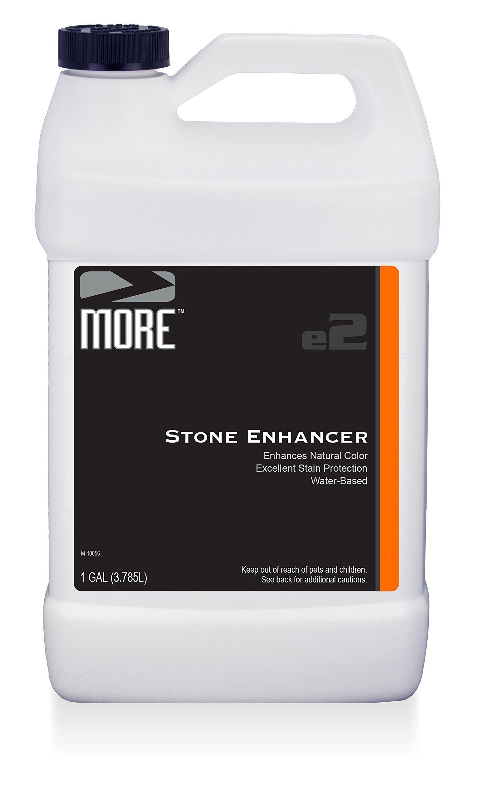 MORE Stone Enhancer - Marble, Granite and Natural Stone Sealer and Enhancer - Water Based Formula [Gallon / 128 Oz.]