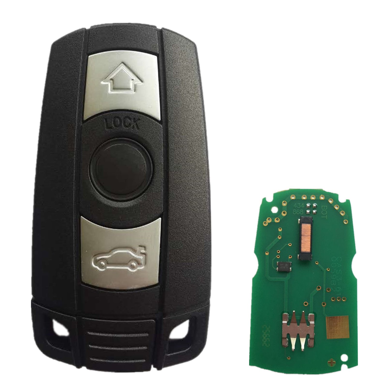 Dudely Remote Key 3 Button 433 MHz w/ID7944 Chip Fob for BMW 1 3 5 6 7 Series