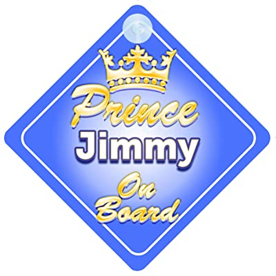 Crown Prince Jimmy on Board Personnalisé pour bébé/enfant garçons voiture Panneau Bébés & Puériculture