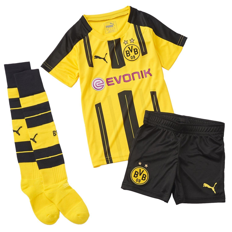 Puma Kinder Set BVB Home Minikit with Sponsor Logo Babyset, Mehrfarbig