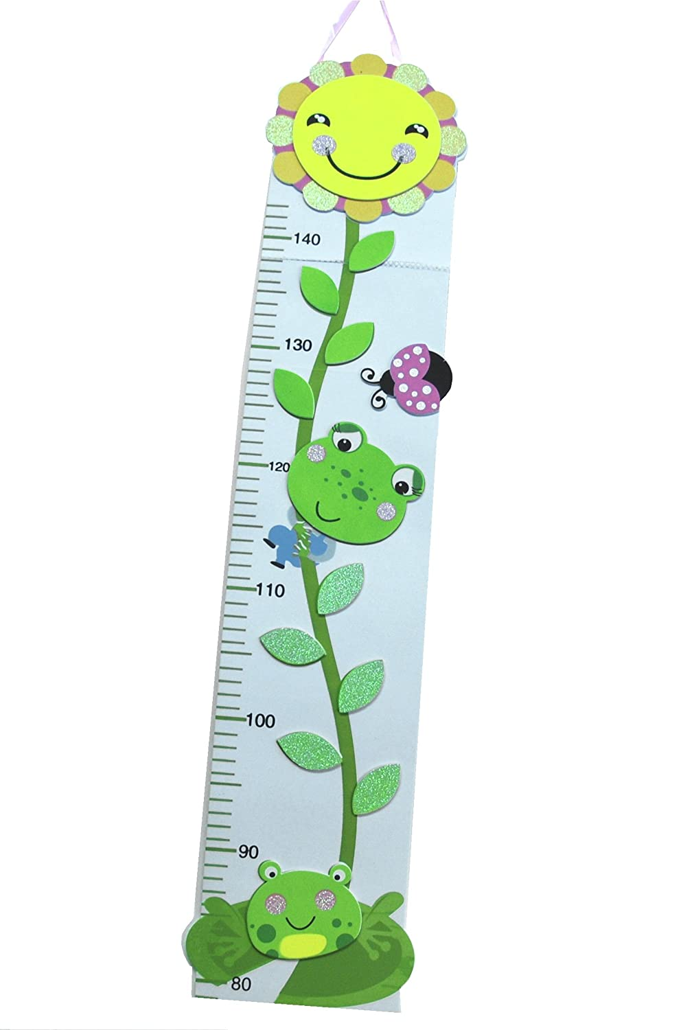 3 Fun Designs! Toddler Height Chart up to 150cm Happy Sunflower