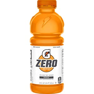 Gatorade Zero Sugar Thirst Quencher, Orange, 20 Fl Oz (Pack of 12)