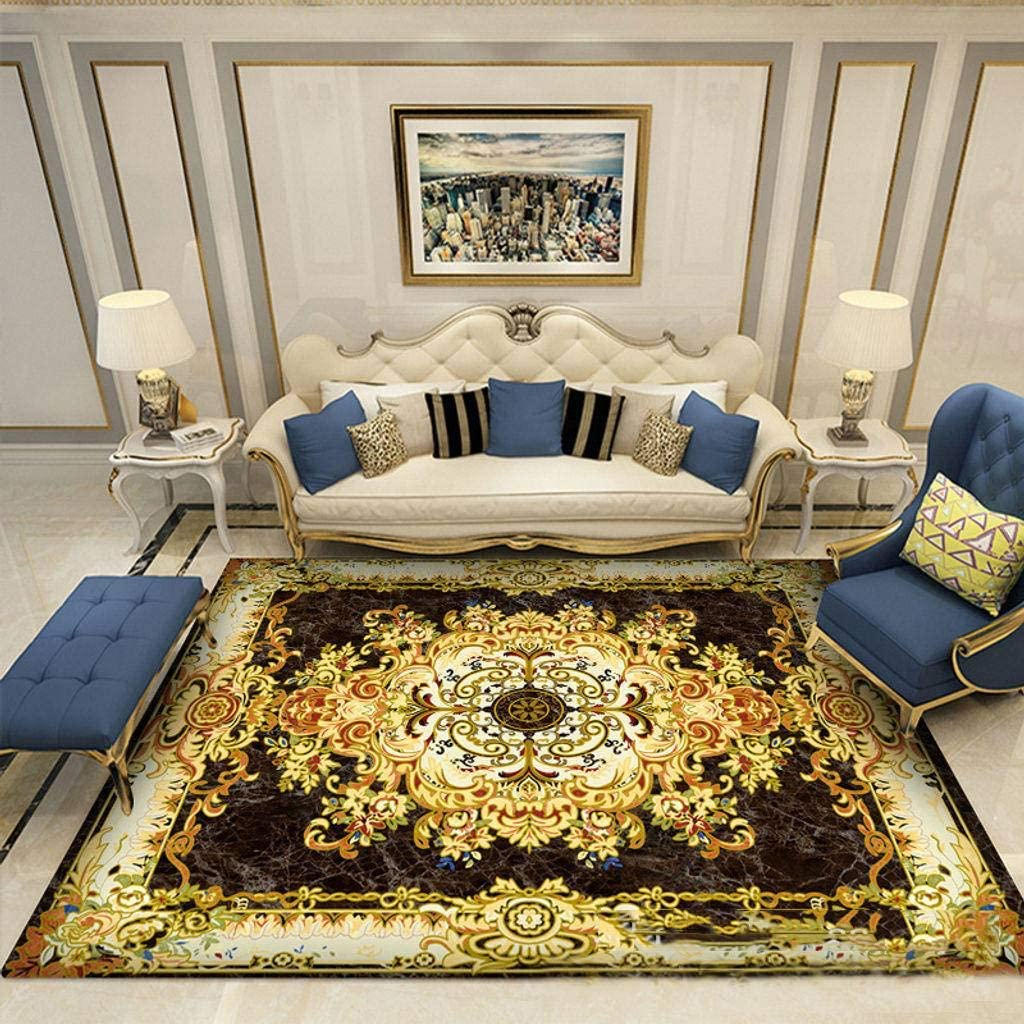 Luxury Non-Slip Rug, Fashion Decor Area Rug Soft Oriental Colorful Living Room Carpets Easy Clean for Den Office Indoor Floor Protection Mat-17-200x300cm