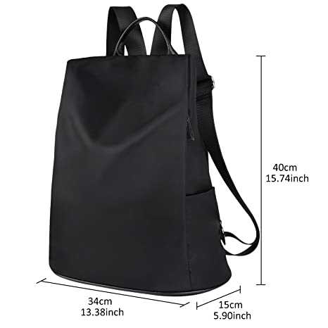 Amazon.com: COOFIT Womens Backpack Anti-Theft Backpack Black Nylon Backpack Ladies Shoulder Bag Casual Travel Daypack: Fanspack Direct