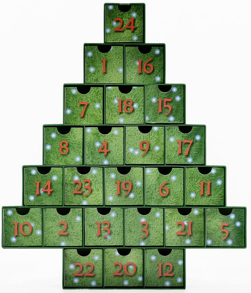 O Christmas Tree Treasure Box Advent Calendar (Countdown to Christmas) Vermont Christmas Company BB950