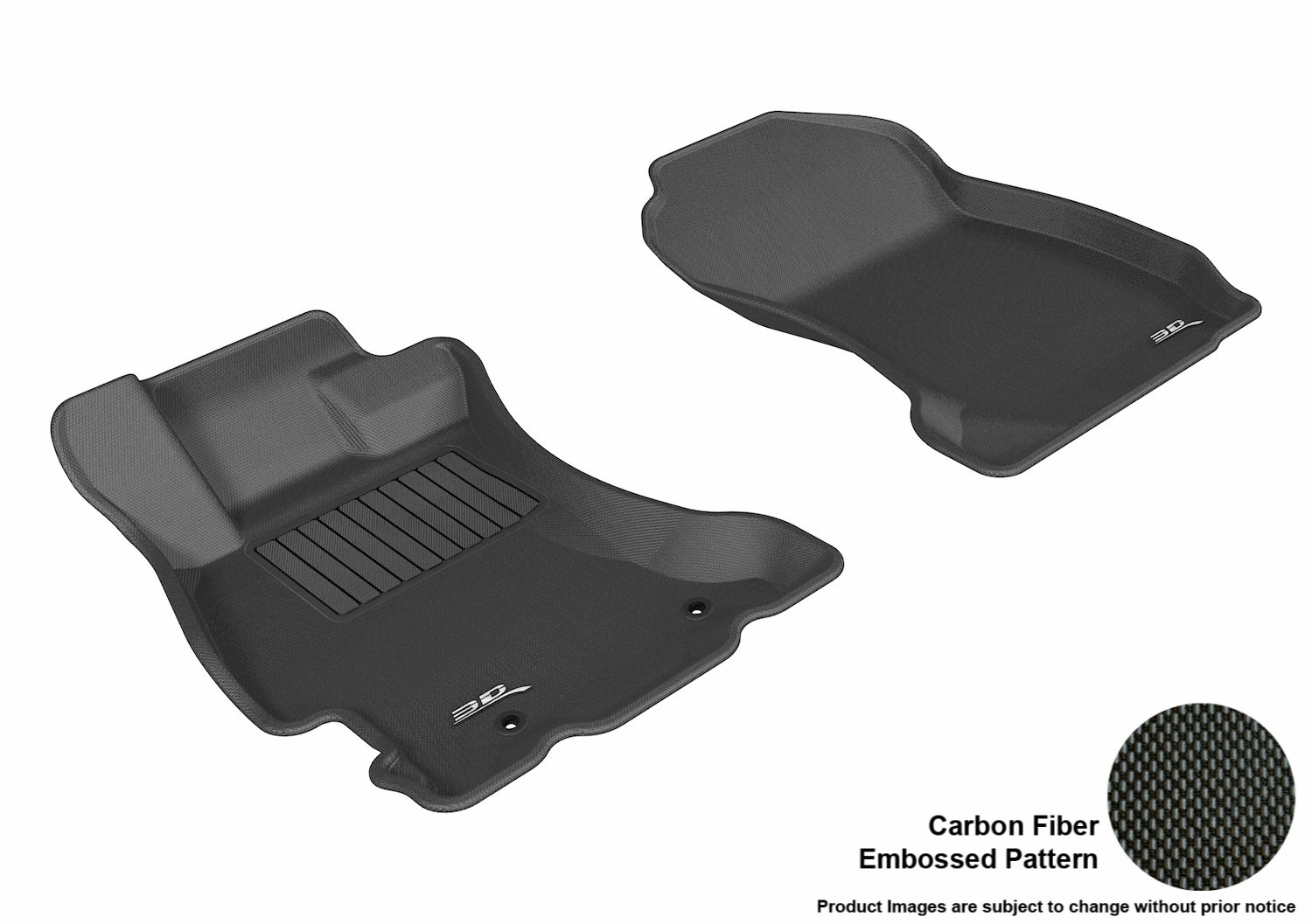 3D MAXpider Second Row Custom Fit All-Weather Floor Mat for Select Subaru Forester Models L1SB00921501 Kagu Rubber Gray