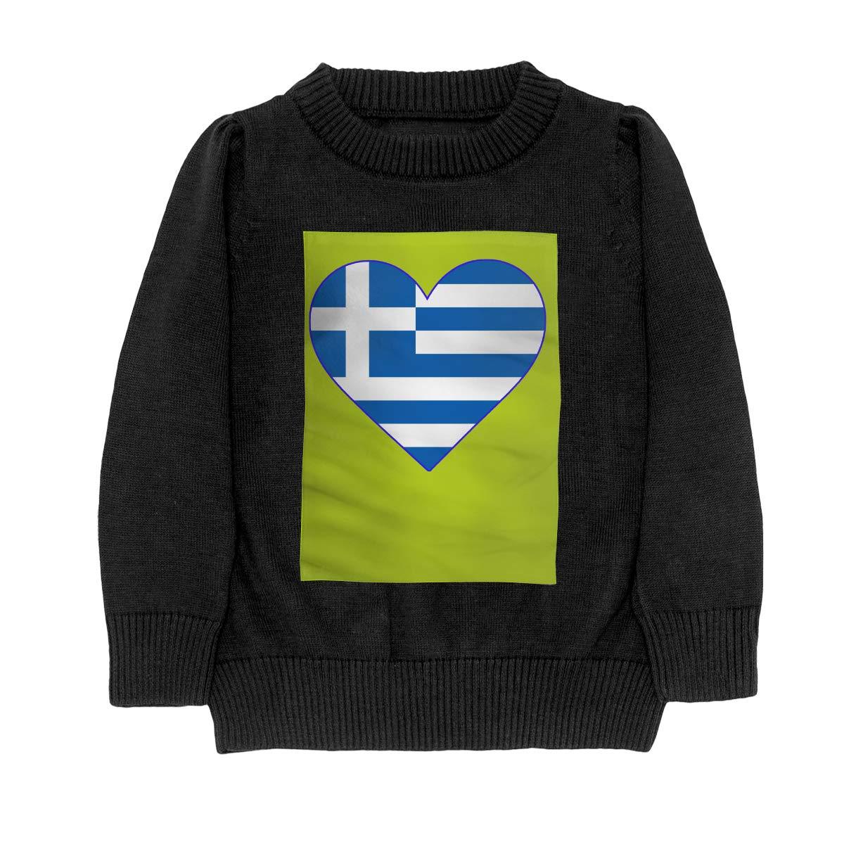 WWTBBJ-B Flag of Greece Casual Adolescent Boys /& Girls Unisex Sweater Keep Warm