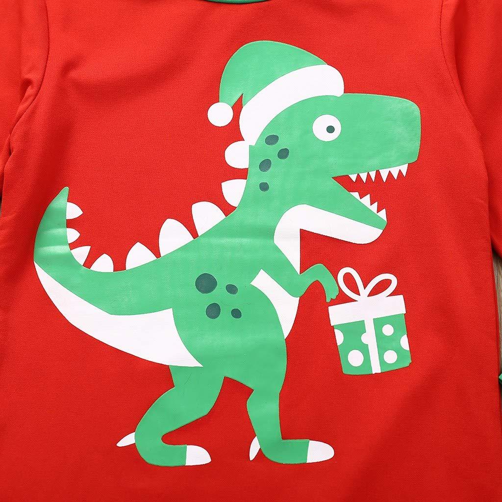 Long Sleeve Dinosaur Tshirt Tops Pants Sleepwear Pjs 2PCS Clothes Outfits Set WOCACHI Toddler Little Boys Pajamas Sets