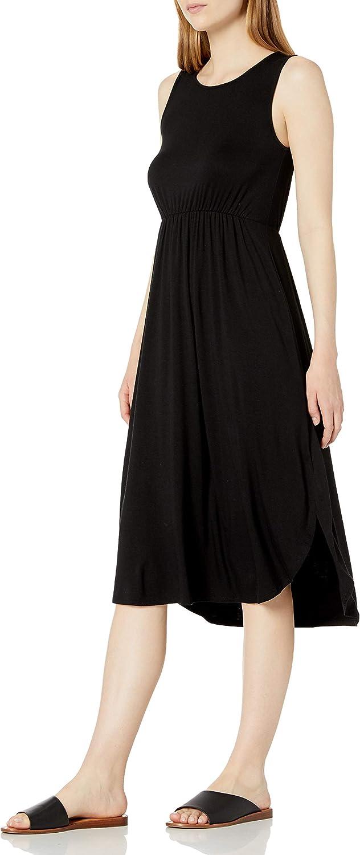Amazon Brand - Daily Ritual Women's Jersey Sleeveless Gathered Dress