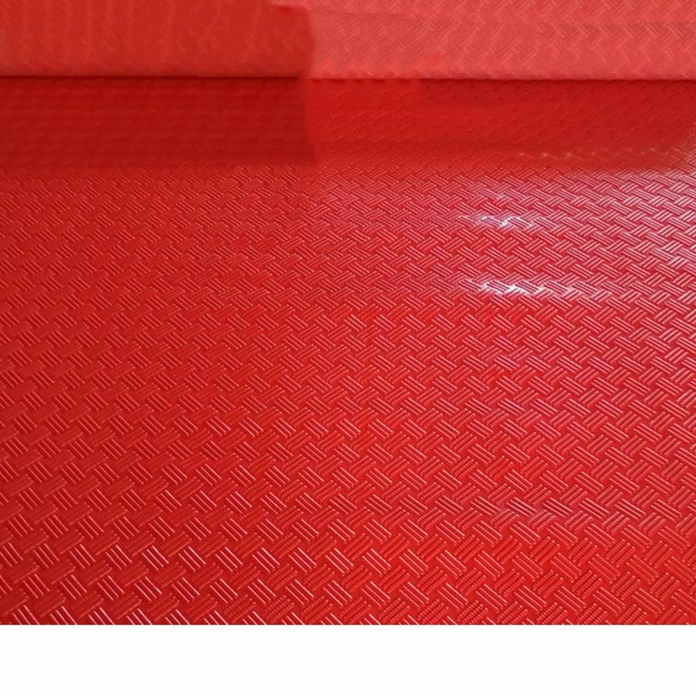 PVCゴム滑り止めマット、プラスチックフロアマット、防水および耐摩耗カーペット CONGMING (色 : Red, サイズ さいず : 1.2m*5m) 1.2m*5m Red B07HT4SBBJ