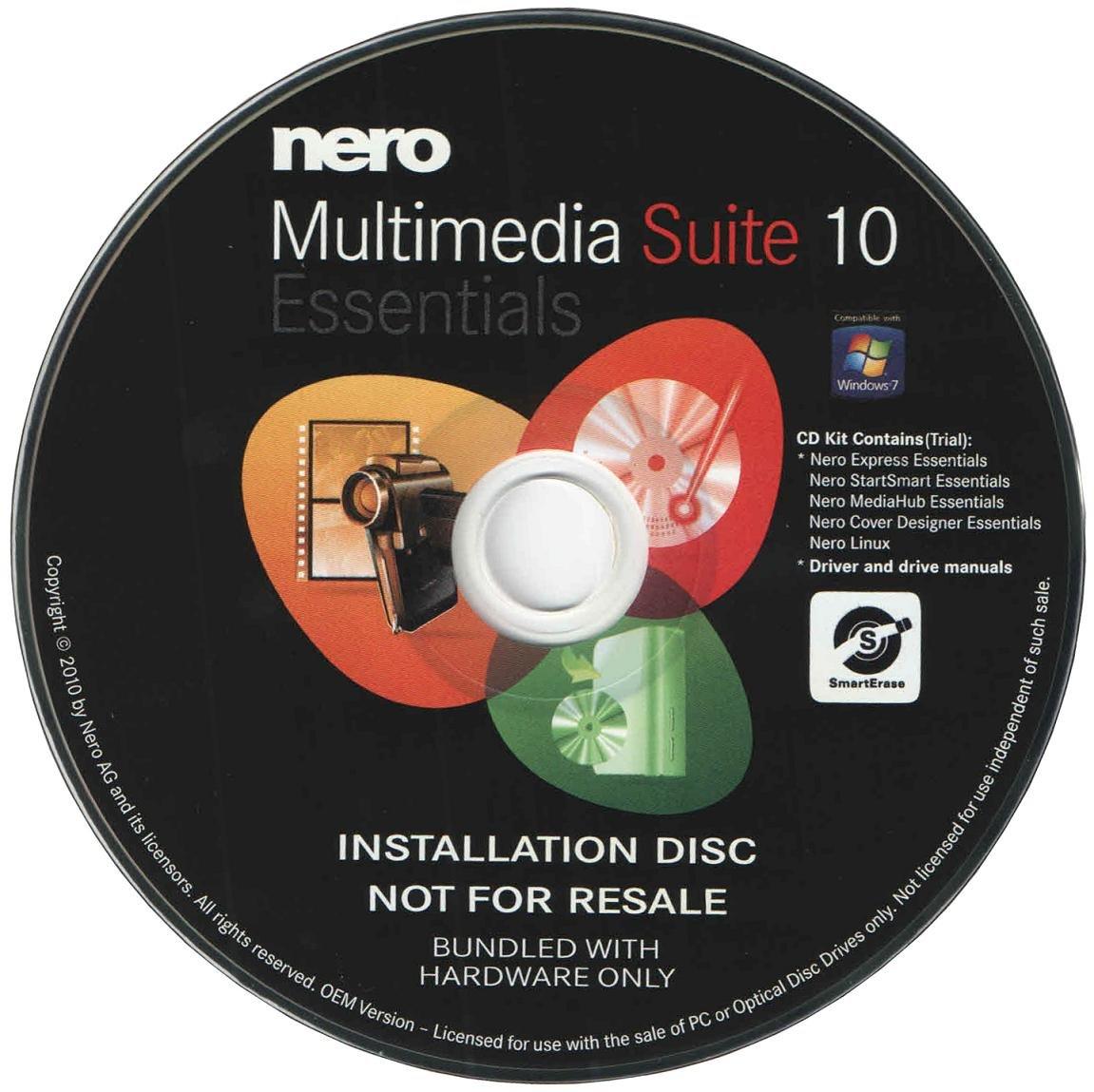 Amazon.com: Nero 10 Essentials Multimedia Suite CD/DVD Burning Software  (OEM Version): Musical Instruments