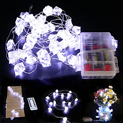 Amazon.com: 14 pies de largo, 40 LEDs transparente Ice Rock ...