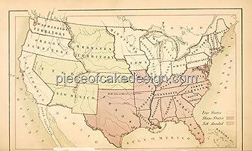 1/4 Sheet ~ Vintage US Map Birthday ~ Edible Cake/Cupcake Topper ...