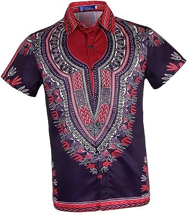 Camisa étnica De Playa De Vacaciones De Hombres Camisa Africana Africana De Fiesta De Despedida De Soltero Elegante - Multicolor 2, L: Amazon.es: Ropa y accesorios