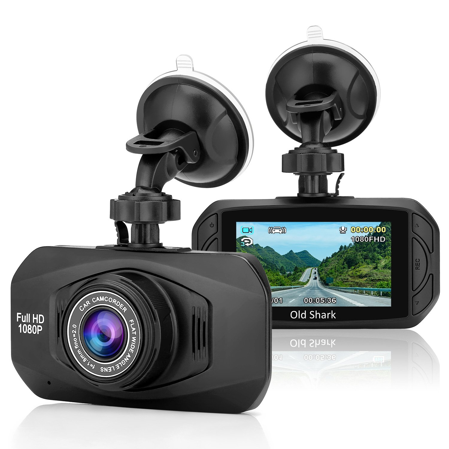 OldShark Dash Cam 1080P HD Car Video Driving Recorder Dashboard Camera with Night Vision,4-Lane Wide-Angle View Lens, G-Sensor, Loop Recording, Motion Detection, Parking Guard S29G-D82G-E8GA