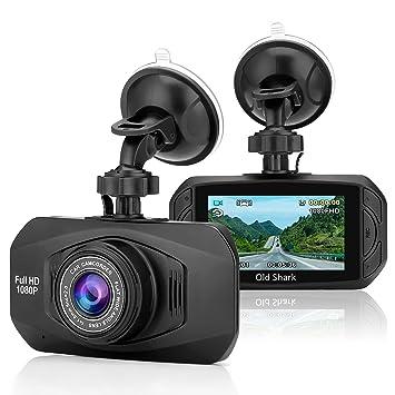 oldshark salpicadero cámara 1080P Full HD de coche Dash Cam 170 grados de ángulo ancho 2