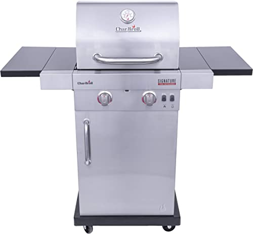 Char-Broil 463632520 Signature TRU Infrared 2-Burner Cabinet Style Gas Grill, Stainless Steel