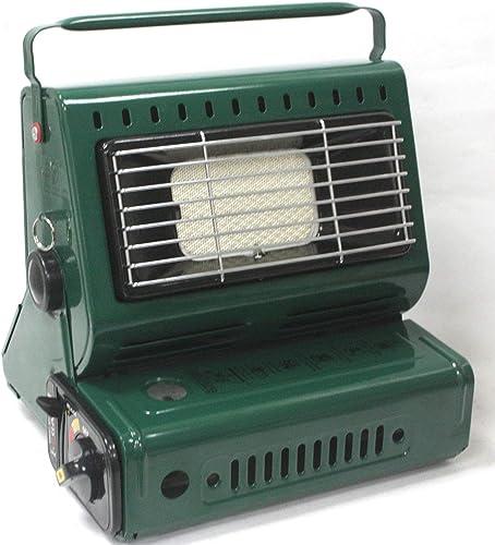 9TRADING 2 in1 Butane LP Gas Ceramic Burner Heater Warmer Heating Cooking Stove Camping