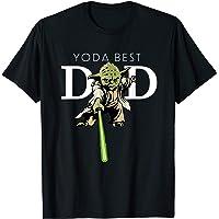 Star Wars Yoda Lightsaber Best Dad Father's Day T-Shirt