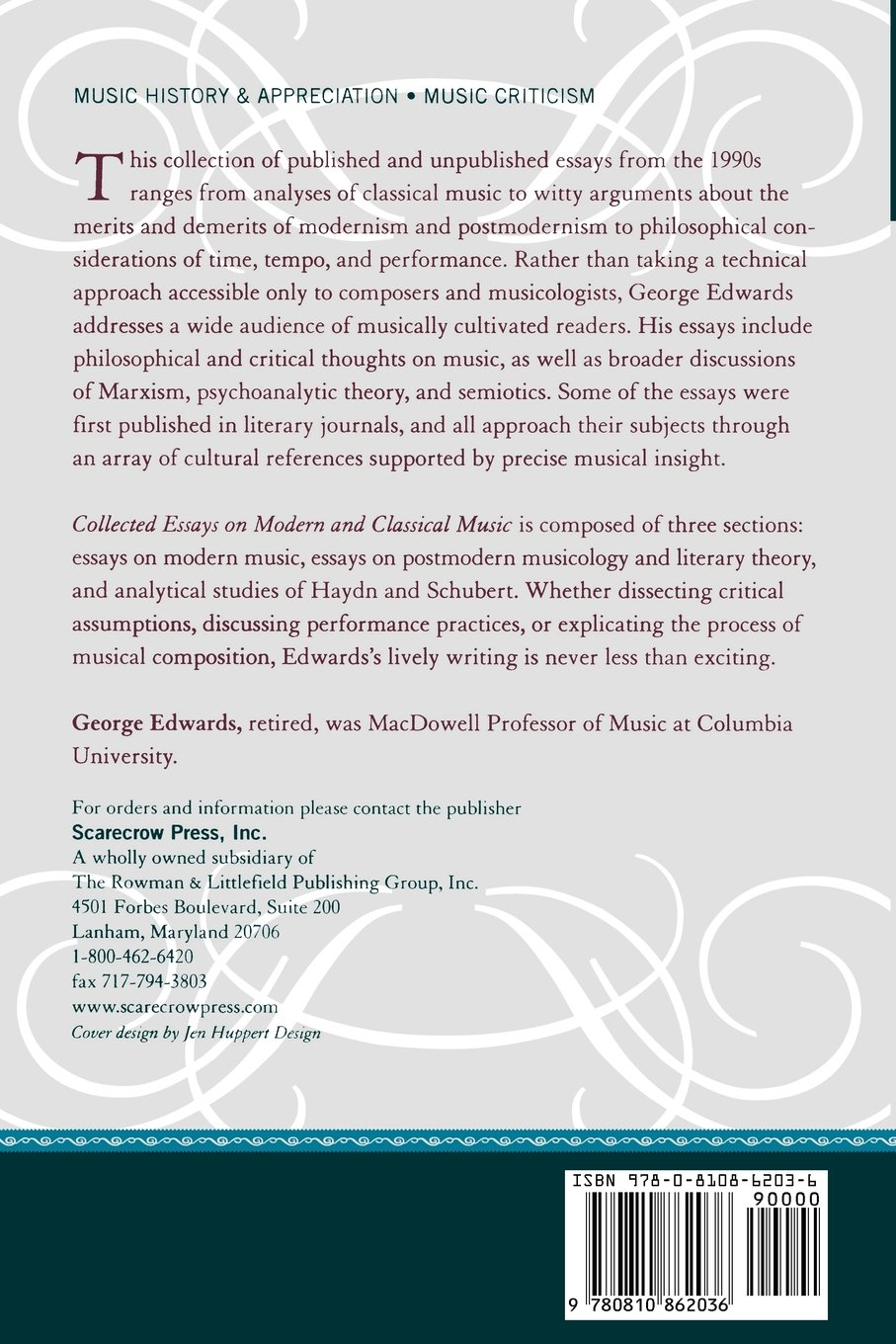 collected essays on modern and classical music george edwards collected essays on modern and classical music george edwards fred lerdahl 9780810862036 com books