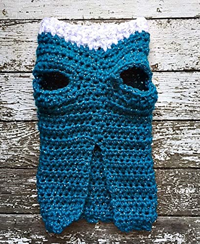 Amazoncom Crochet Blue Dog Sweater Xs Teal Blue Silver Sparkles