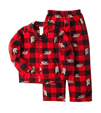 b5b325a9a2 Amazon.com  Komar Kids Boys 2-Piece Fleece Football Sleepwear Pajama ...