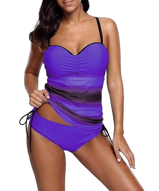 Amazon.com: Xuan2Xuan3 Tankini para mujer, traje de baño de ...