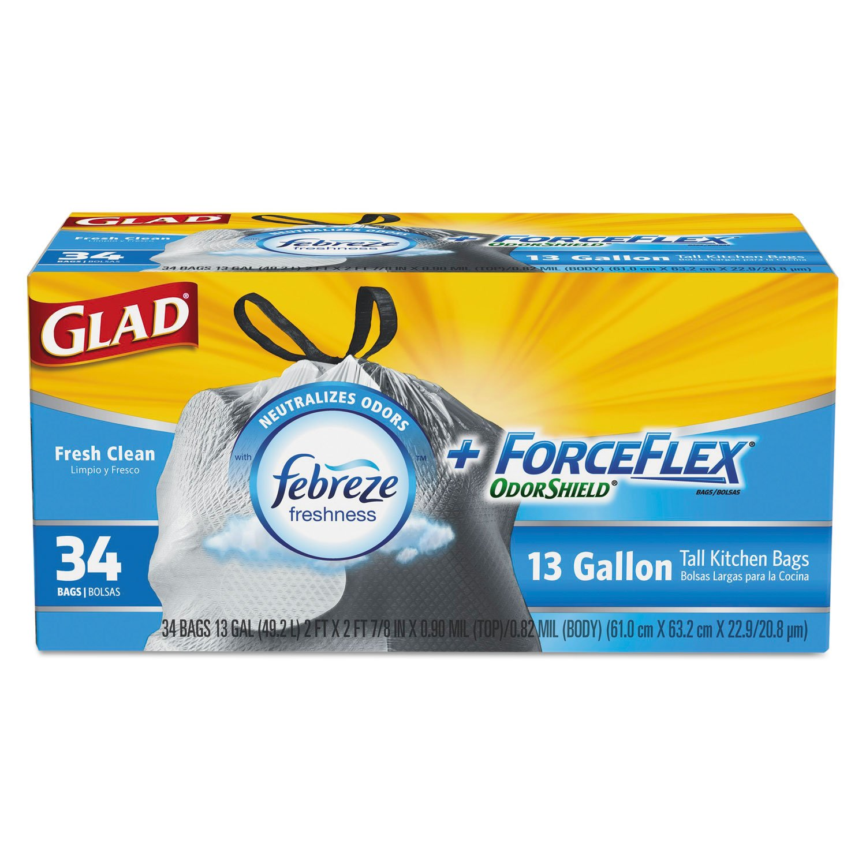Amazon.com: Glad ForceFlex OdorShield Bags, Fresh Clean ...