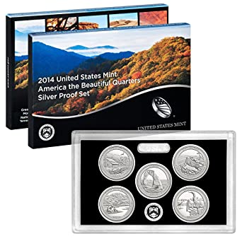 2014 BU S Mint America The Beautiful Clad Quarters 5 Coin Complete Set