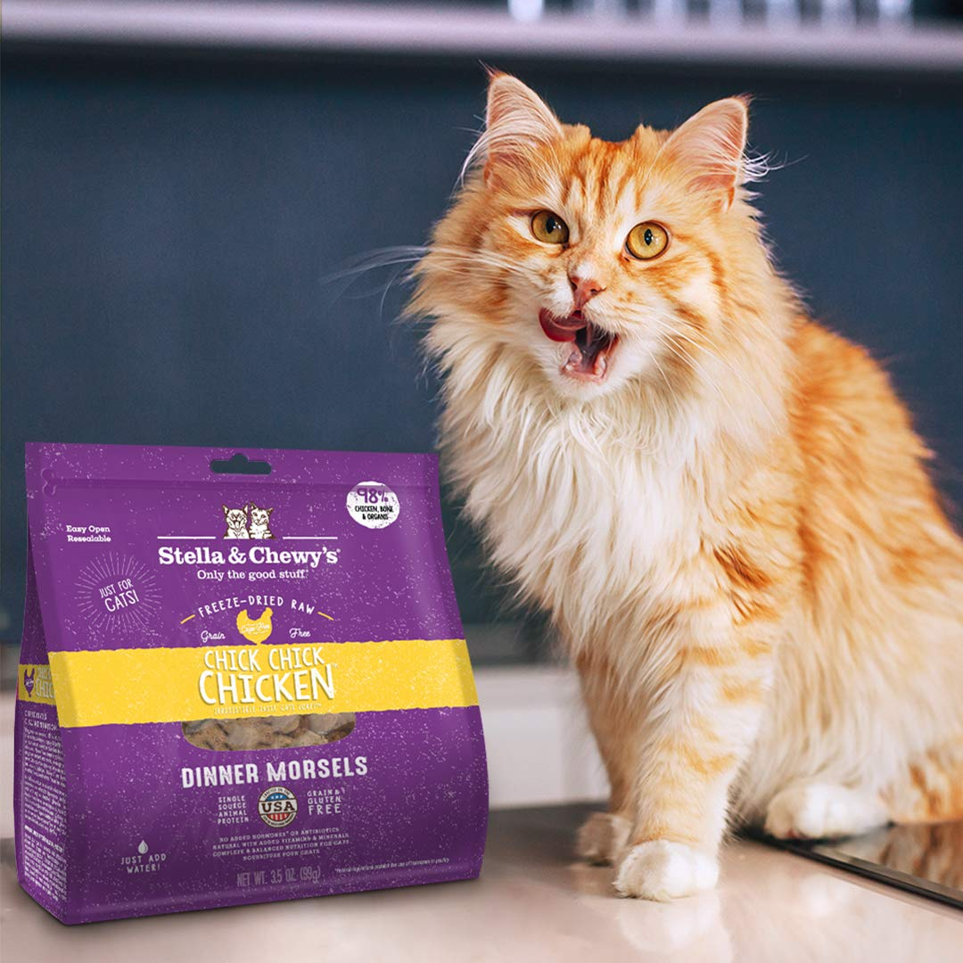 Stella & Chewy'S Freeze-Dried Raw Chick, Chicken Dinner Morsels Grain-Free Cat Food, 8 Oz