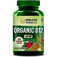 Himalayan Organics Organic Vitamin B12 - Certified Organic & Natural - 120 Veg Capsules