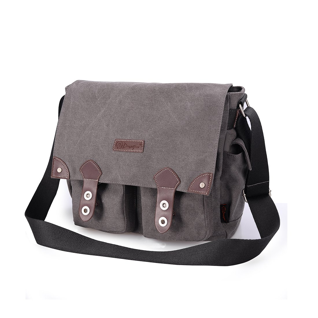 Douguyan Unisex Messenger Bag Fashionable and Best Style Backpack for Men and Women Grey 43608