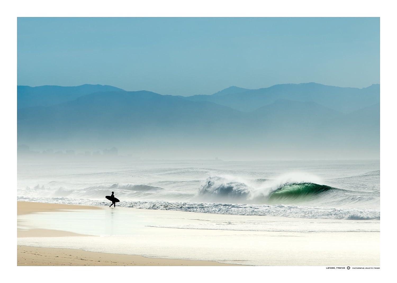 LINE UP SURF PICTURES Poster de Surf Shiny Landes Affiche 70 cm 50 cm