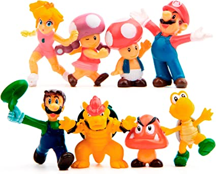 Inspired By Mario Brothers Set Of 8 Mini Party Figures Cake Topper Cupcake Decorative 1 5 2 8 Pvc