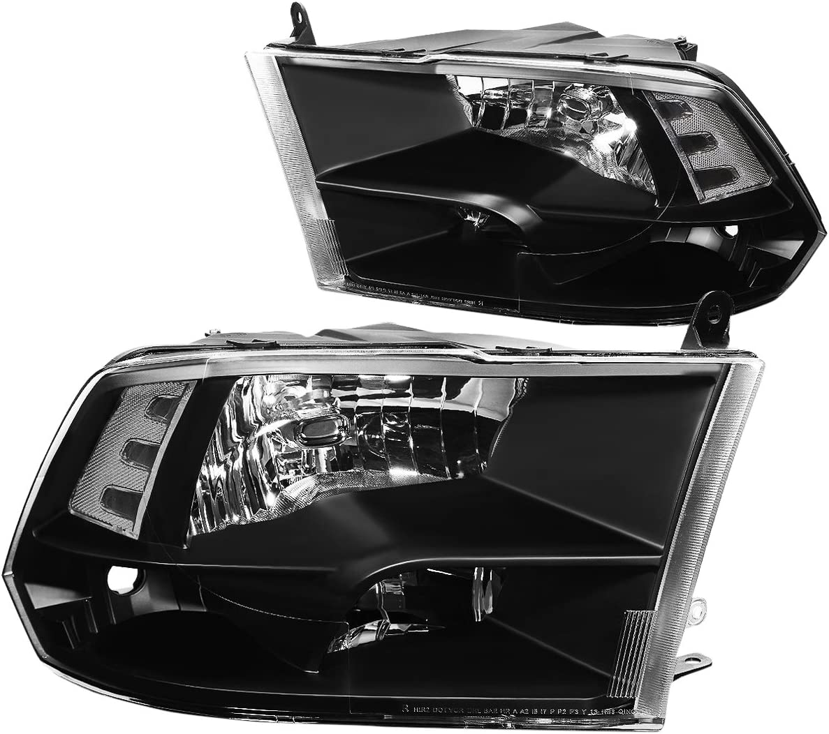 Driver /& Passenger Side DNA Motoring HL-OH-FSD05-BK-CL1 Headlight