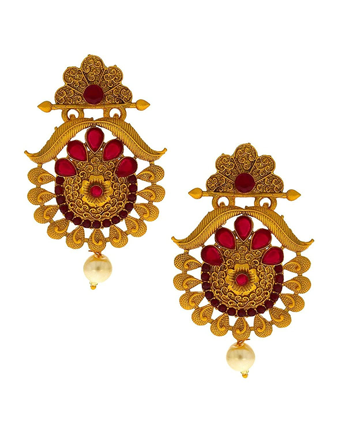 Anuradha Art Golden Finish Designer Classy Trendy Traditional Earrings For Women//Girls