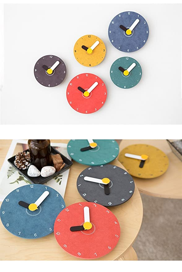 Amazon.com: ZHAS Round Suzuki Movement Wooden Large Creative Wall Clock Simple Modern Cartoon Children Bedroom Study Living Room Mute Hanging Table New ...