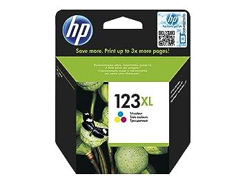 Hp ink cartridge 123xl tri-color blister uk ru fr po cz hu (F6V18AE#301): Amazon.es: Oficina y papelería