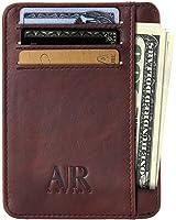 RFID Front Pocket Wallets for Men - Minimalist Genuine Leather RFID Blocking