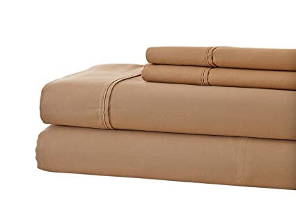 800 Thread Count Cotton Rich SOLID Hotel NY   Highest Quality, Full Taupe  Bedsheets