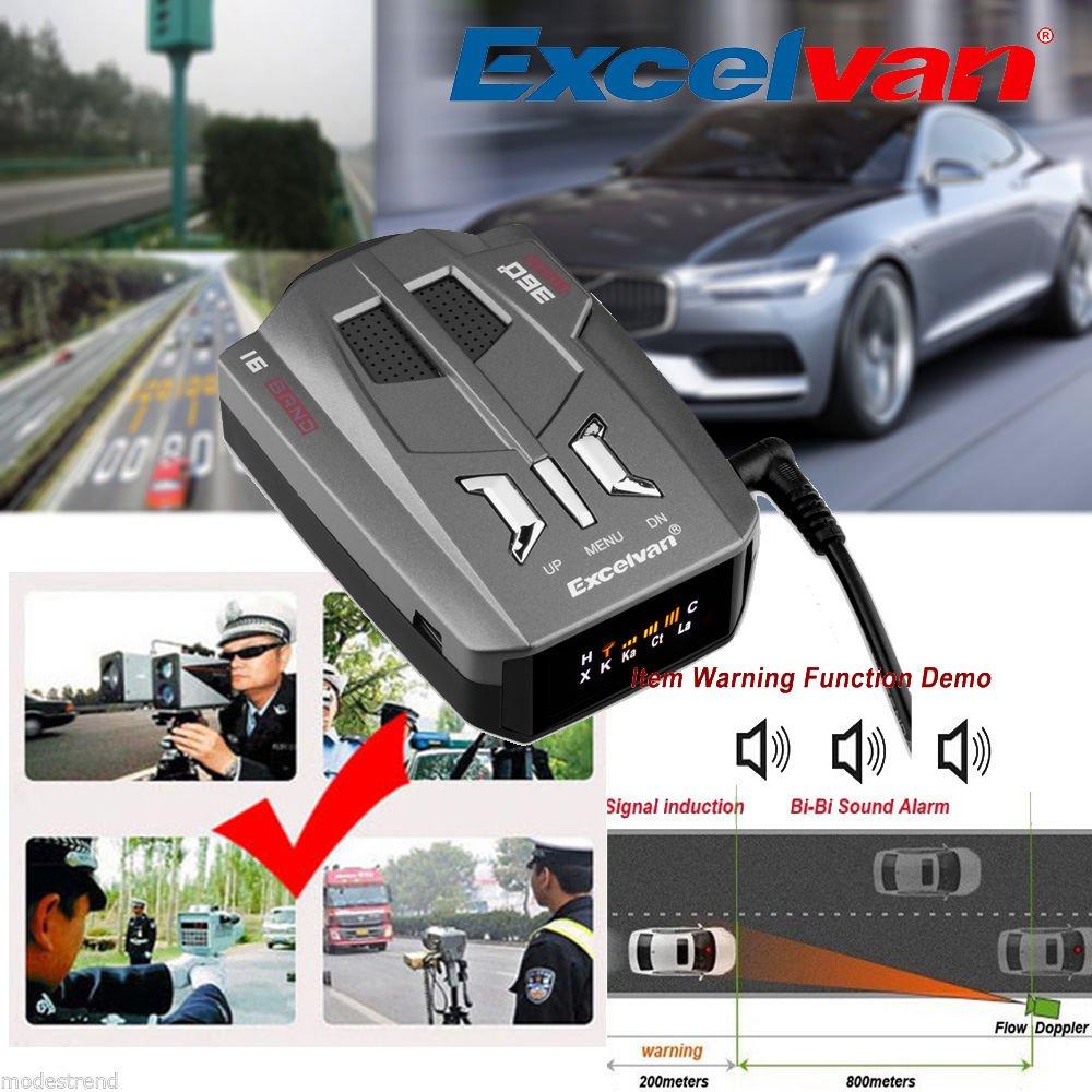Amazon.com: SD LED 360 Degree Car 16 Band V9 Speed Police Safe Radar Detector Voice Alert Laser: Car Electronics