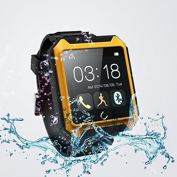 :Flylinktech U Watch Ip68 Waterproof Shockproof Dustproof Bluetooth 4.0 Smart Watch Smartwatch Touch Screen for Samsung Galaxy Note 4/3,s5/s4,sony ...