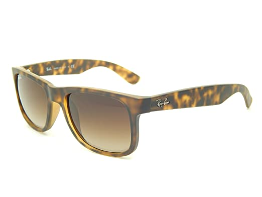 6f50c777bdf New Ray Ban Justin RB4165 710 13 Tortoise  Brown Gradient 55mm Sunglasses   Amazon.co.uk  Clothing
