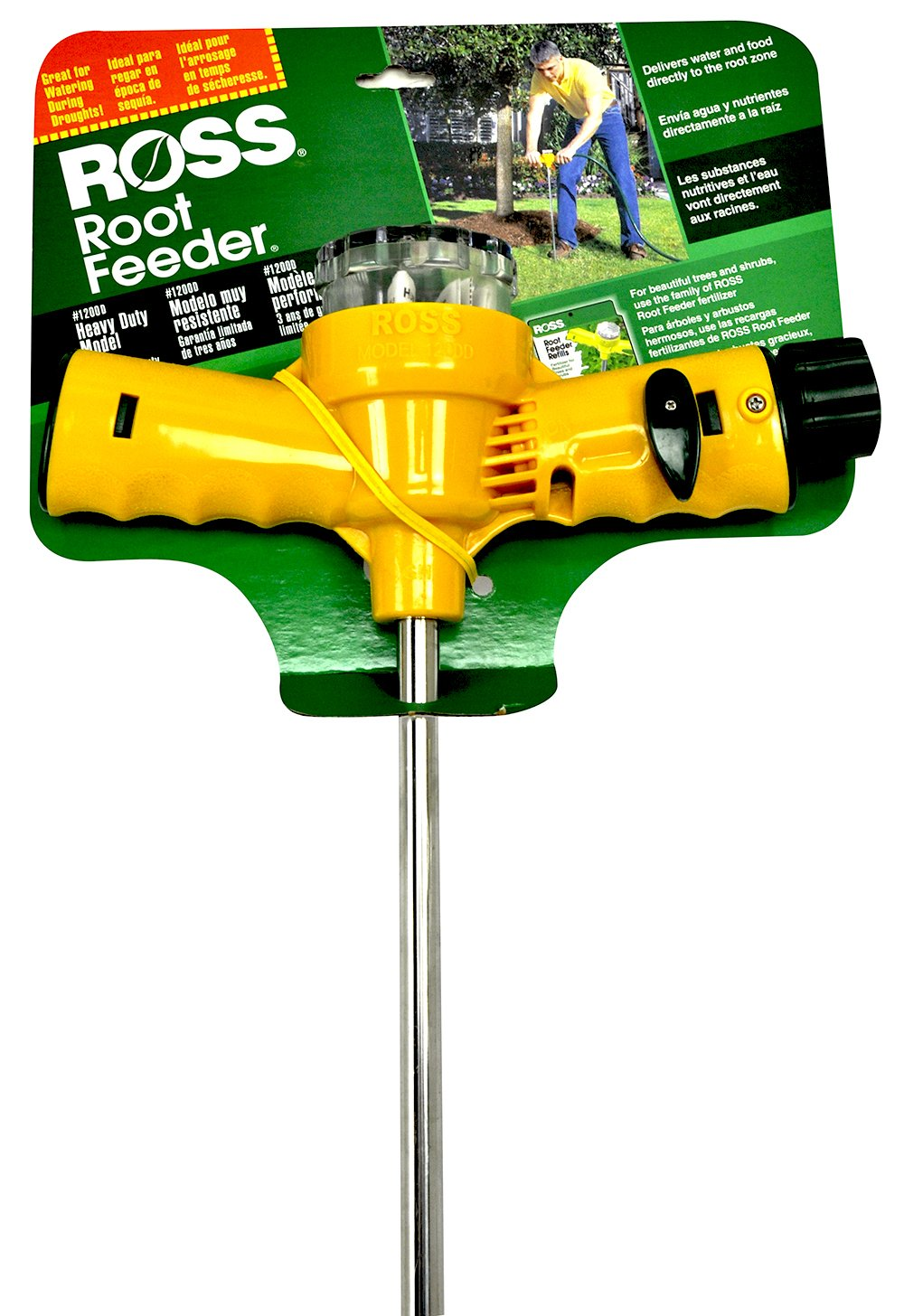 Ross Root Feeder Heavy Duty Model #1200D, For Use Fertilizer Refills (Ideal for Watering During Droughts), 3 Year Limited Warranty