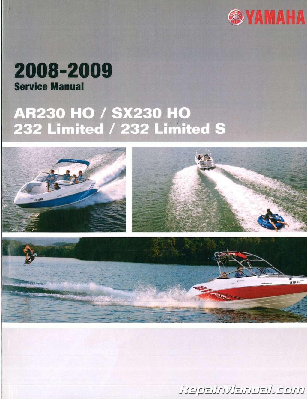 LIT-18616-SX-A2 2008-2009 Yamaha AR230 SX230 HO Limited SXT1100A-G Sport Boat  Service Manual: Manufacturer: Amazon.com: Books