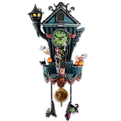 bradford exchange the cuckoo clock tim burtons the nightmare before christmas wall clock