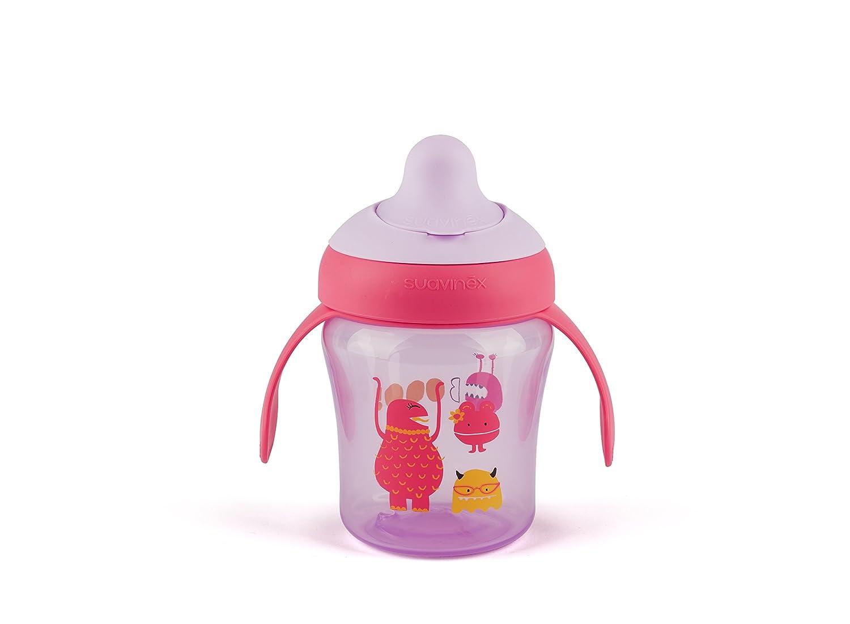 Suavinex Taza aprendizaje bebe, 6meses, color lila 8426420039925