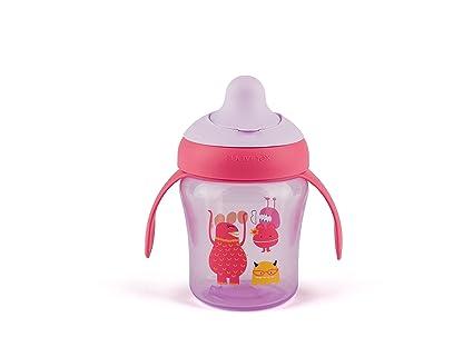 Suavinex Taza aprendizaje bebe, 6meses, color lila