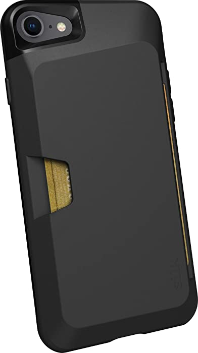 Smartish iPhone 7/8 Wallet Case - Wallet Slayer Vol. 1 [Slim + Protective + Grip] Credit Card Holder for Apple iPhone 8/7 (Silk) -Black Tie Affair
