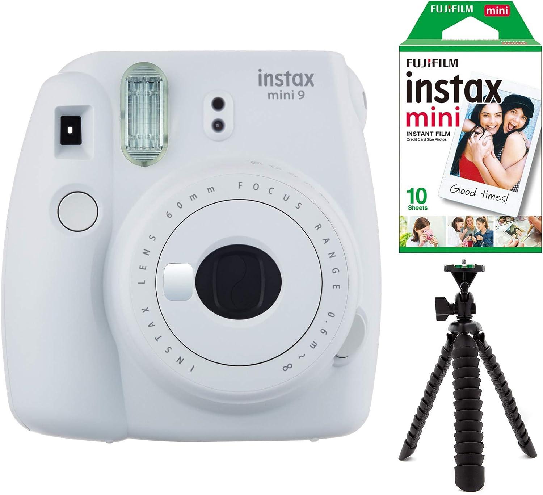 Fujifilm Instax Mini 9 (Smokey color blanco) W/Single Pack película de aluminio y Kit de trípode: Amazon.es: Electrónica